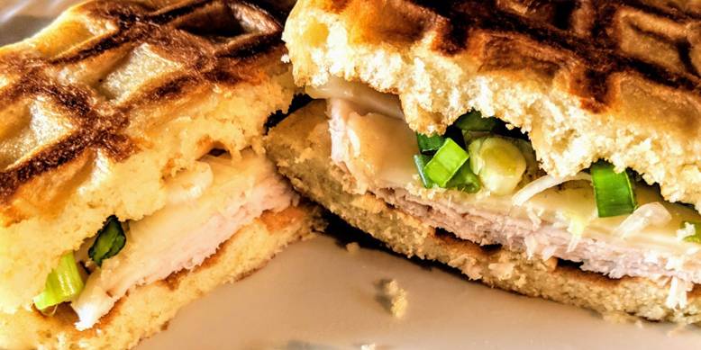 Lunch Box Chicken & Waffles - Sandwich Version