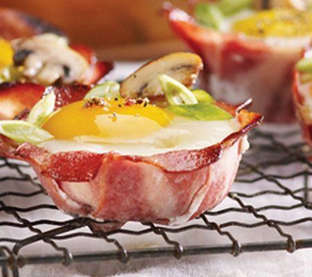 Coupelles aux œufs et au bacon de poulet