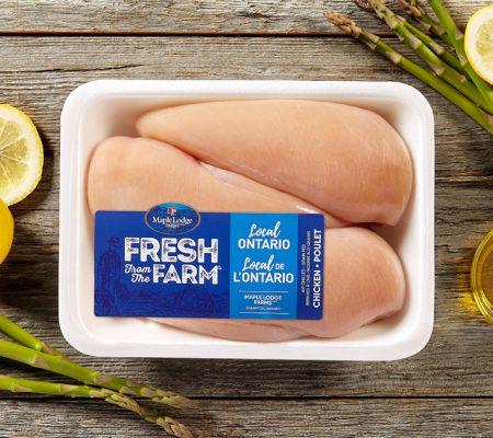 Poitrines de poulet désossées, sans peau Fresh From The Farm