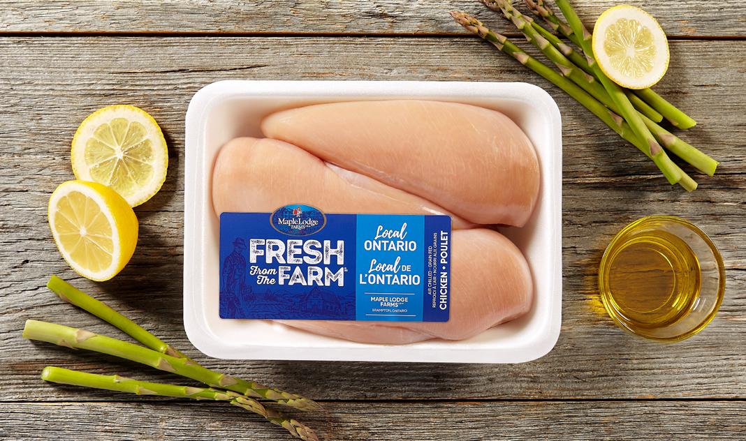 Poitrines de poulet désossées, sans peau Fresh From The Farm – Ontario
