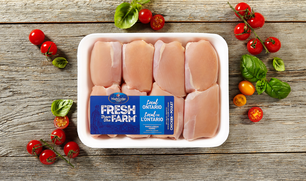 Fresh From The Farm Boneless, Skinless Chicken Thighs