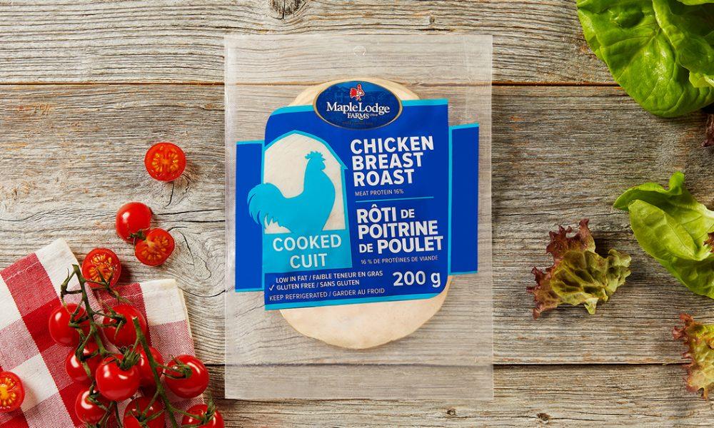 Rôti de poitrine de poulet cuit