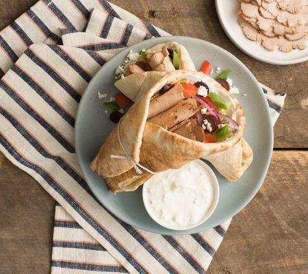 Greek-Style Chicken Pitas