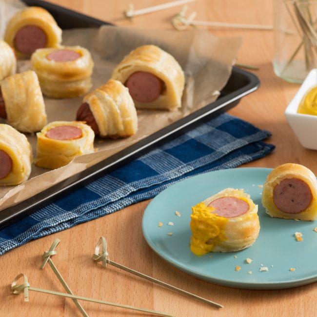 Mustard-y Sausage Rolls