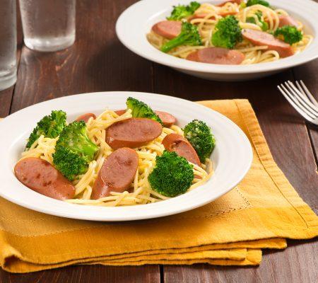 Smokies & Broccoli Spaghetti Carbonara