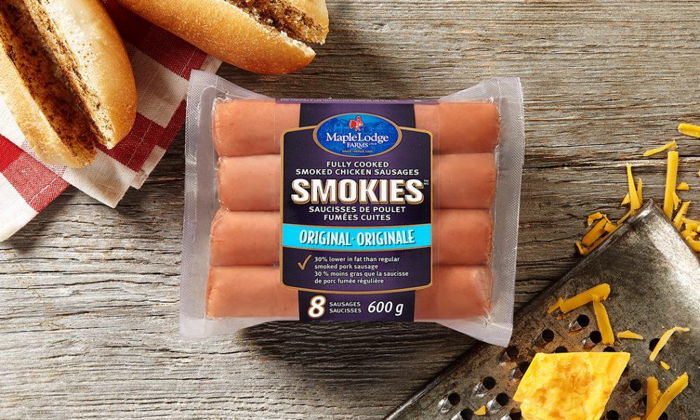 Saucisses de poulet fumées entièrement cuites Smokies
