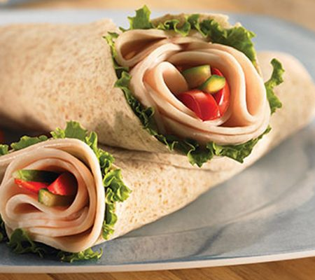 Roasted Veggie & Chicken Wrap