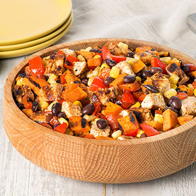 Southwest Chicken & Sweet Potato Salad