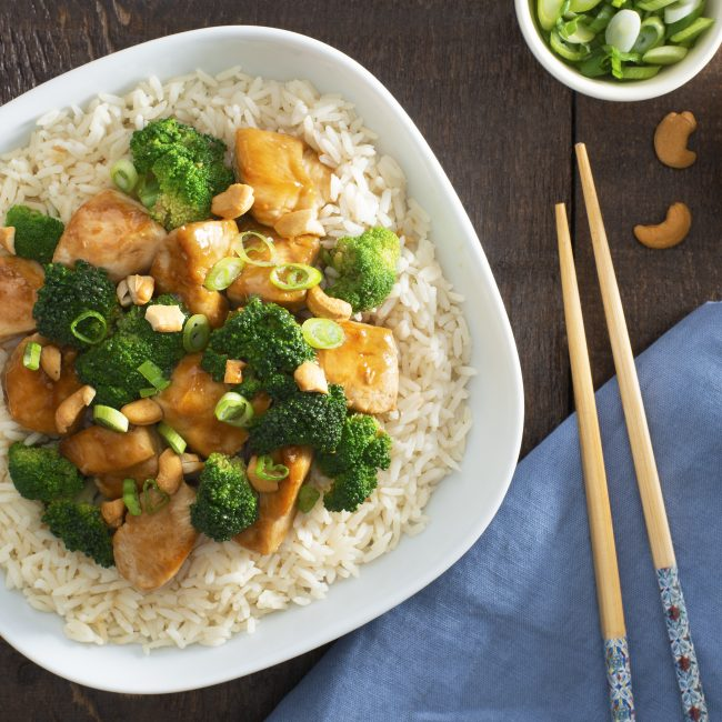 Cashew Chicken and Broccoli Stir Fry