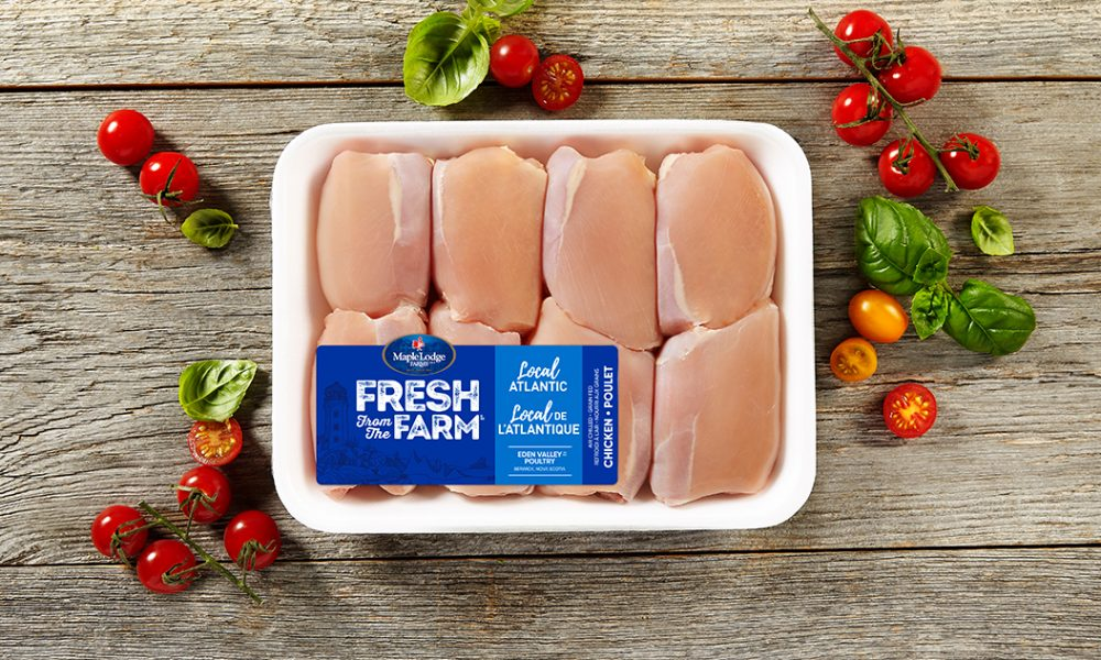 Local Atlantic Fresh From The Farm Boneless Skinless Chicken Thighs
