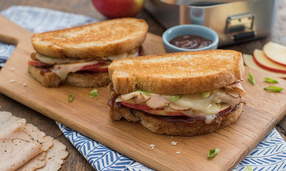Apple and Chicken Grilled Cheese