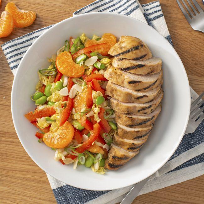 Miso Grilled Chicken Salad